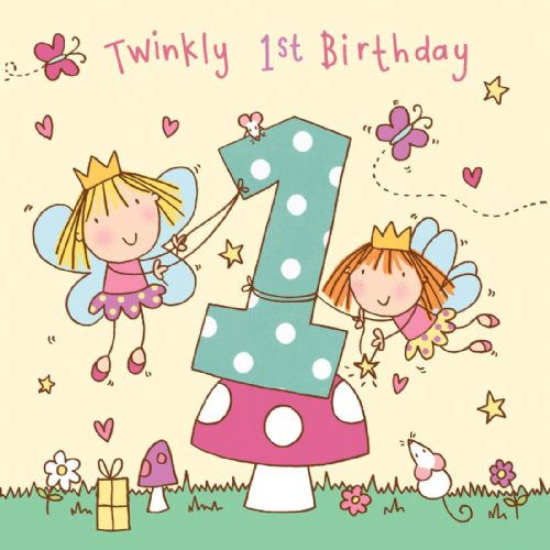 TW730 – Girls Age 1 Fairy Birthday Card